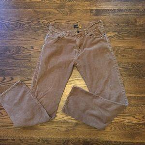 J Crew Slim Straight Tan 31x32 corduroy Pants